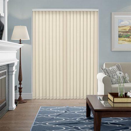 Hình ảnh minh họa: Rèm lá dọc nhỏ bản cùng tông màu nội thất hài hòa