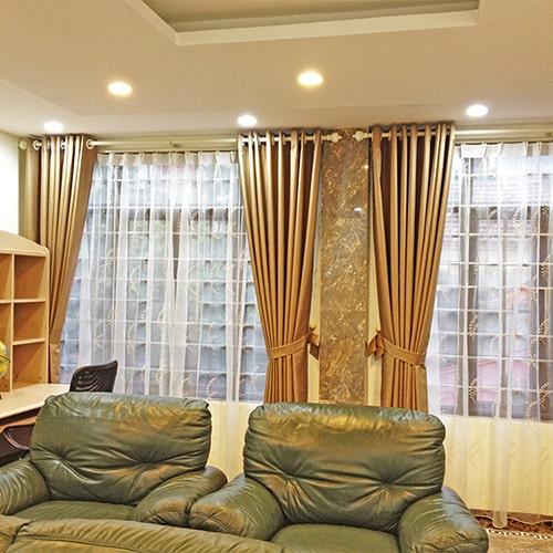 Hình ảnh minh họa: Kiểu rèm thổi hồn cho phòng khách hiện đại