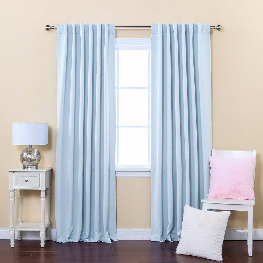 chọn rèm xanh dương theo màu tường