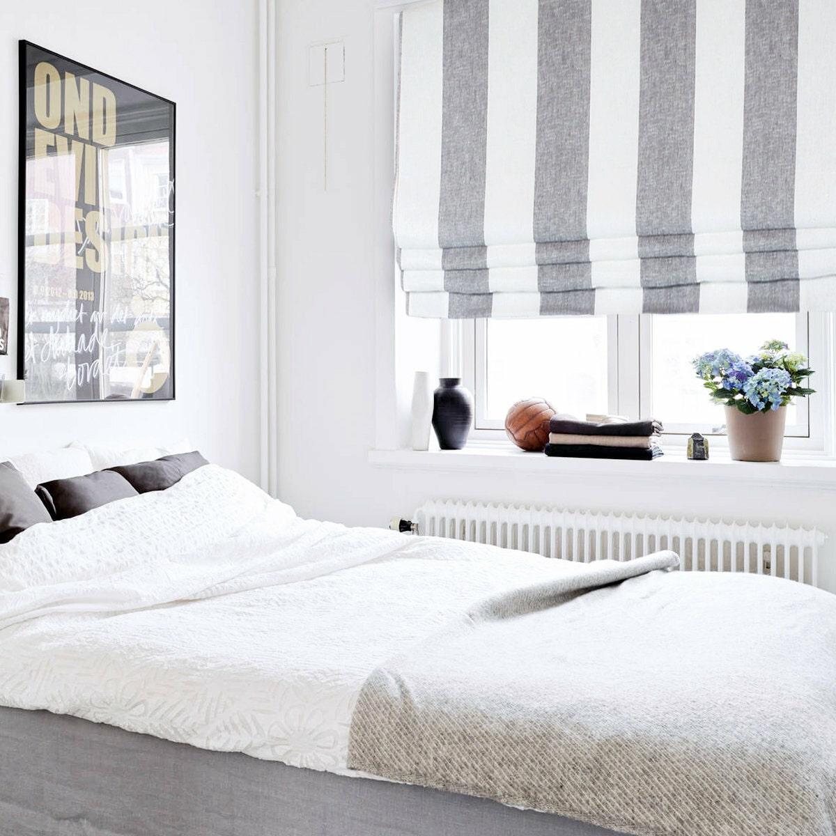 chọn rèm phòng ngủ theo loại rèm roman