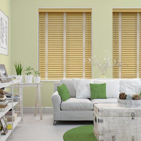 mẫu rèm gỗ cho phòng khách